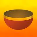 Relaxing tibetan bowls icon