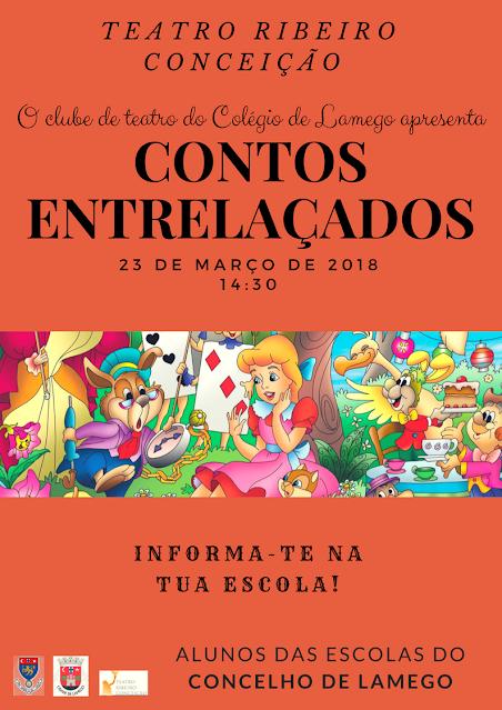 """""""Contos Entrelaçados"""" - Teatro Ribeiro Conceição - 23 de março"""