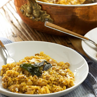Butternut Squash Risotto with Sausage and Crispy Sage Recipe