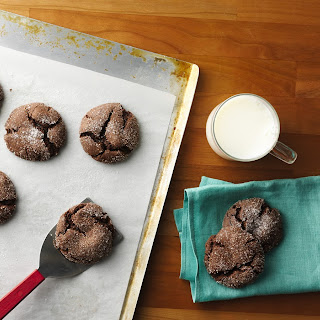 Cake Mix Fudge Crinkle Cookies