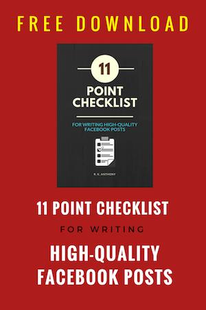 11 Point Facebook Content Checklist download