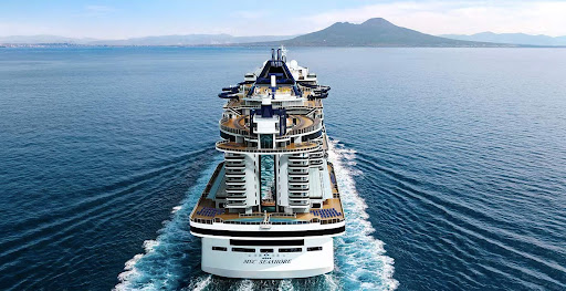 msc-seashore-MSC-at-sea.jpg - MSC Seashore boasts 140,000 square feet of outdoor space with a wide choice of exterior  bars and dining venues, pools and deck area for relaxing and tanning.