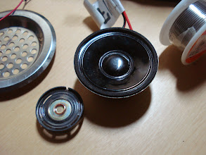 Photo: Little speakers. I decided on using the bigger one.