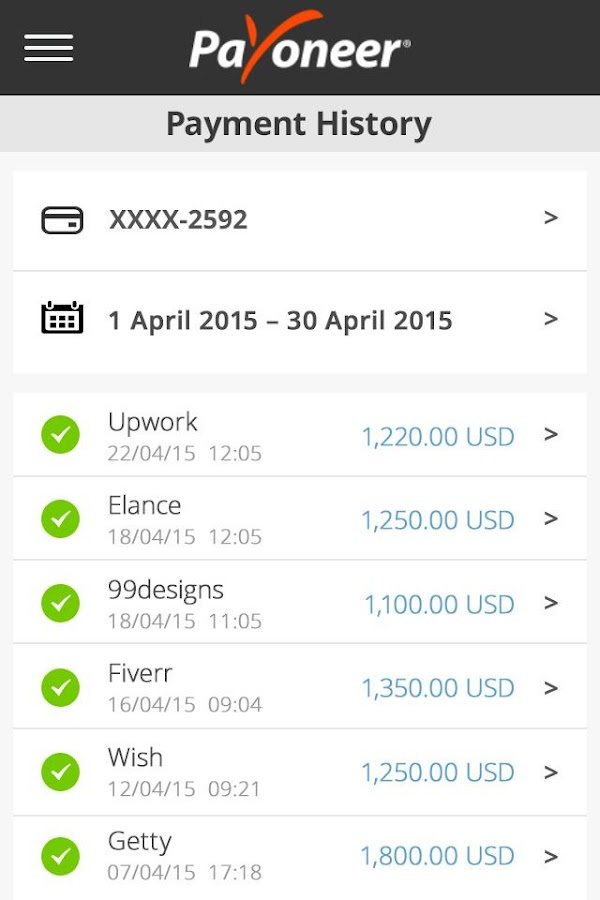 Payoneer- screenshot