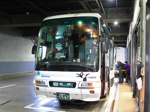 西鉄「ごかせ号」 4202 博多バスターミナル改札中