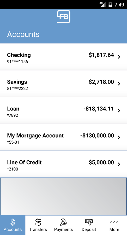 Farmers Bank Mobile Banking- screenshot
