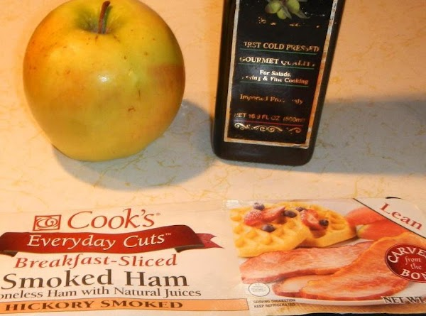 Peel core and dice apple.Put apple, bacon, ham ,cooked potatoes, celery seed and garlic...