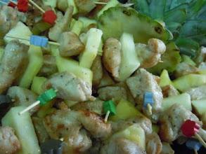 Photo: Brochette de poulet colombo et courgettes
