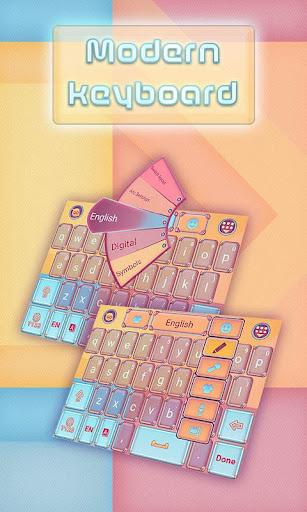 Modern Keyboard Theme Emoji