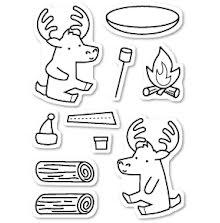 Memory Box Clear Stamp - Moose Buddies