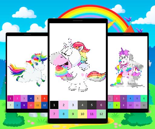 Unicorn Color by Number: Unicorn Pixel Art NEW Mod Apk ...