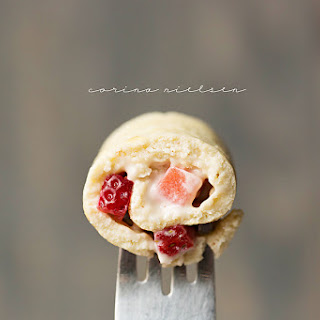 Strawberries & Cream Pancake Roll Ups