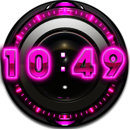 P Glow Digital Clock Widget