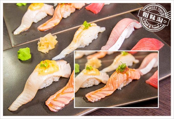 天水玥秘境鍋物店壽司炙燒鮭魚