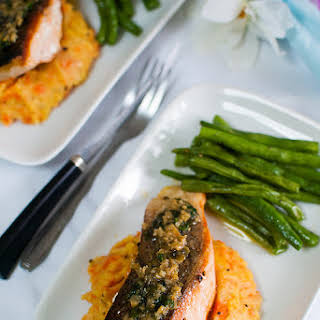 Pan-Fried Salmon with Lemon-Butter-Capers Sauce.