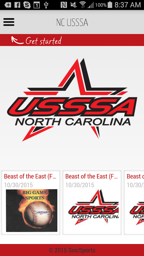 NC USSSA- screenshot