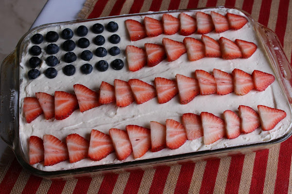 Red White And Blue Strawberry Cream Poke Cake Recipe