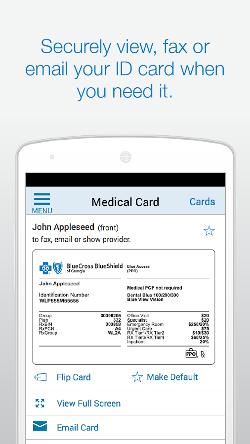 Blue Cross Blue Shield of GA - screenshot