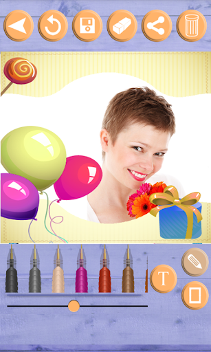 生日相框 - 创建恭喜卡