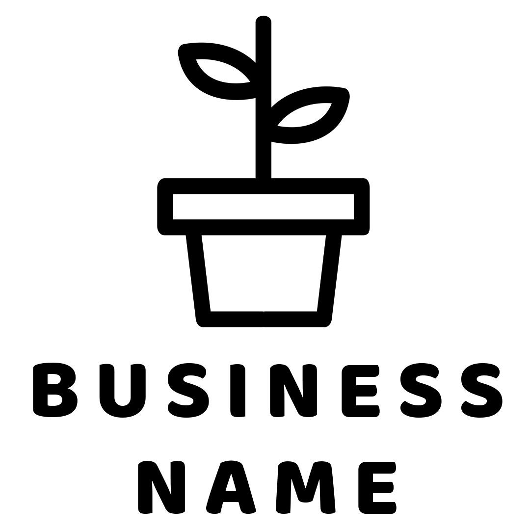 flower logo pot