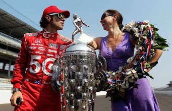 Photo: INDIANAPOLIS, IN - MAY 28:  Three time winner, Dario Franchitti of Scotland, driver of the #50 Target Chip Ganassi Racing Honda, poses with wife Ashley Judd, on the yard of bricks during the  Indianapolis 500 Mile Race Trophy Presentation at Indianapolis Motor Speedway on May 28, 2012 in Indianapolis, Indiana.  (Photo by Nick Laham/Getty Images)