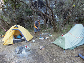 Photo: Camp at Laguna Coromoto