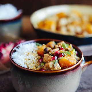 Moroccan Butternut Chicken Curry with Pomegranate.