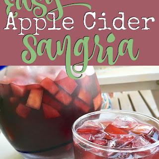 Easy Apple Cider Sangria.