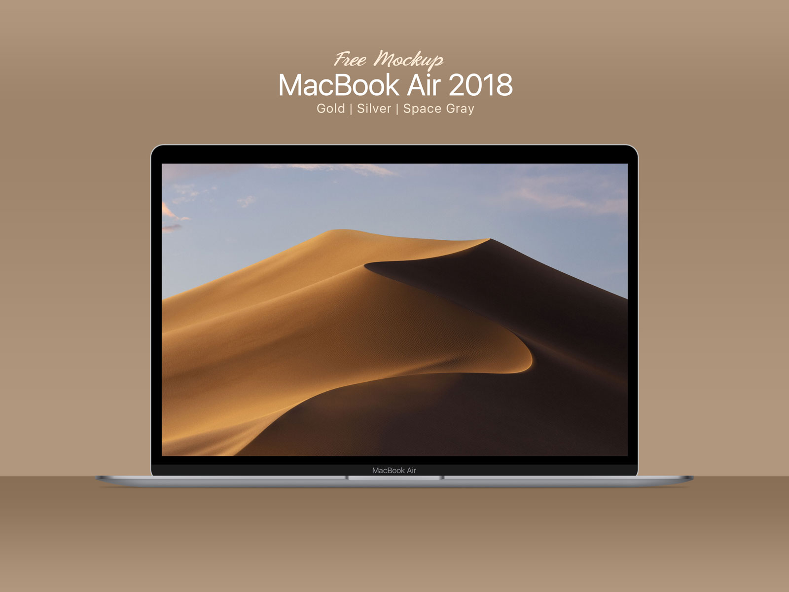 Apple Macbook air desktop mockup psd