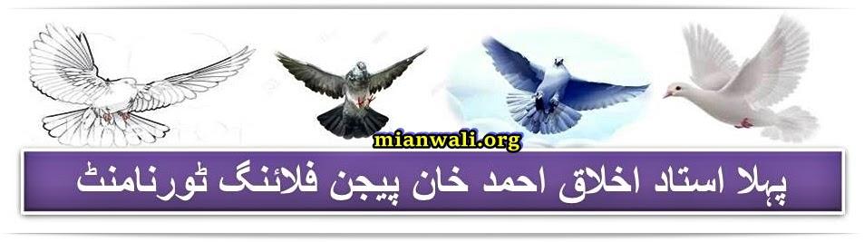 1ST Ustad Akhlaq Ahmad Khan Pigeon Flying Tournament