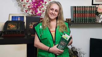 Josefina Álvarez ha cumplido 19 años como vendedora de la ONCE.