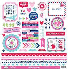 Doodlebug Cardstock Stickers 12X12 - French Kiss This & That
