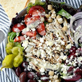 The Best Greek Salad + Creamy Greek Salad Dressing