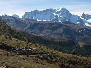 Photo: Other mountains compete for our attention, such as Monte Rosa, highest mountain in Switzerland  (15,207 ft / 4634 m)