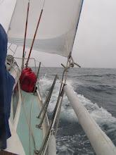 Photo: В бейдевинд/ Working the boat upwind