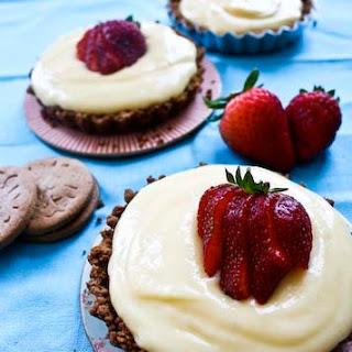 Grapefruit Tarts in a Gingersnap Crust
