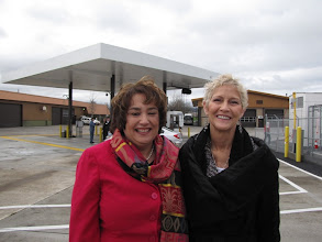 Photo: RVTD General Manager Julie Brown and Avista's Kris Ransom, manager of compressed natural gas services, worked together to bring about the new CNG station, which is open to the public.
