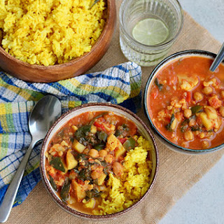 Slow Cooker Chickpea Curry.