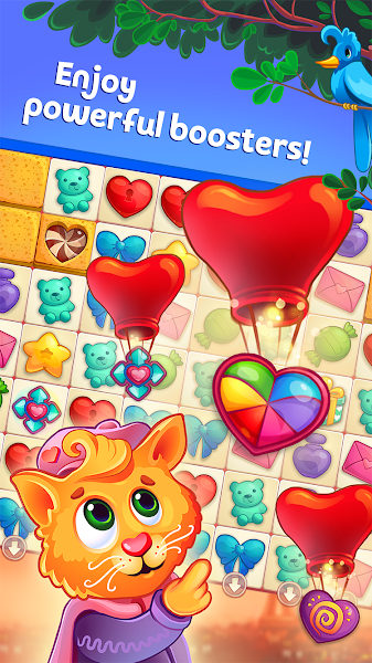 Sweet Hearts - Cute Candy Match 3 Puzzle