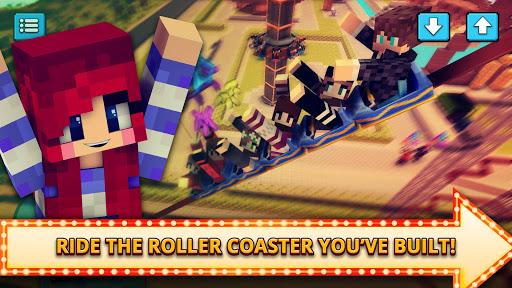 Theme Park Craft 2: Build & Ride Roller Coaster 1.4 screenshots 3