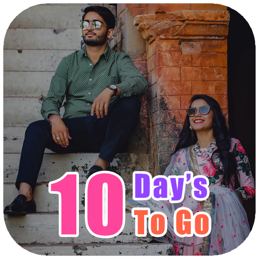 10 Days To Go Pre Wedding Photo Frame & Status