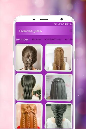 Hairstyles Step by Step Videos (Offline) screenshots 1