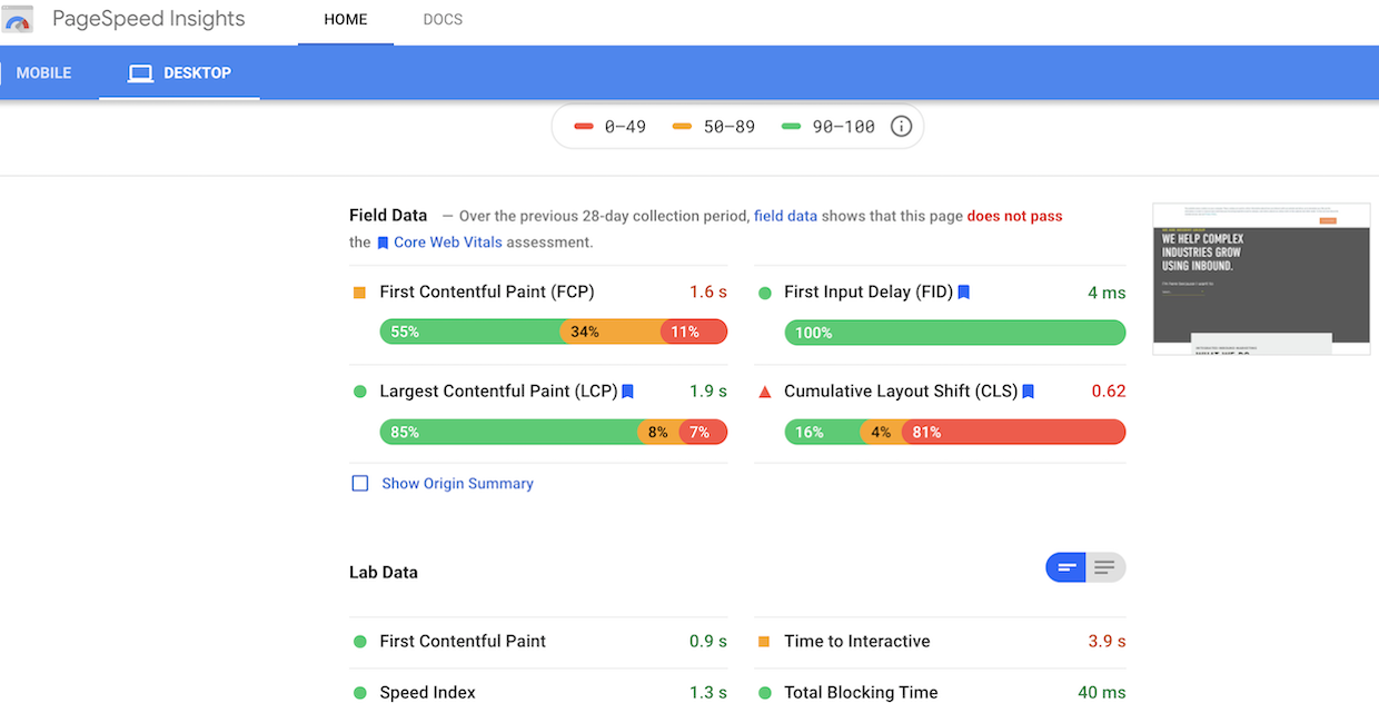 Google-page-speed-insights-for-website