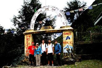 Photo: The start of the trek