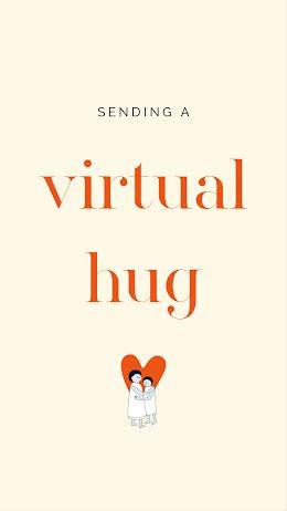Sending A Virtual Hug - Facebook Story item