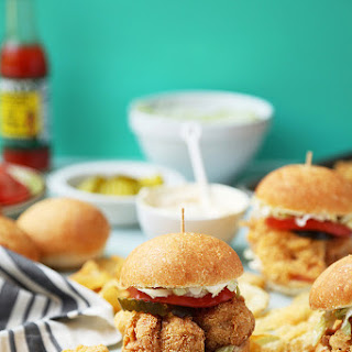 Fried Shrimp Po'boy Sliders