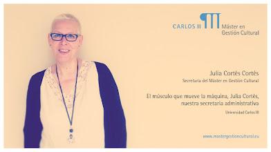 Photo: Julia Cortés - Secretaria del Máster en Gestión Cultural de la Universidad Carlos III de Madrid