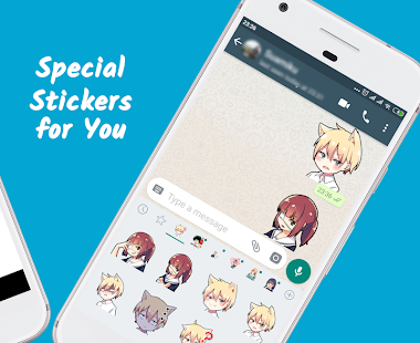 Anime Lovers Chibi Stickers for Whatsapp Screenshot