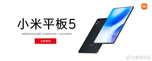 Xiaomi Mi Pad 5 Design Render Leaks Revealing Bezel Less 2K 120Hz Display