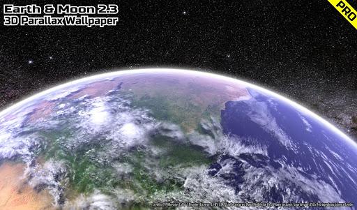 Earth & Moon in HD Gyro 3D PRO Parallax Wallpaper  screenshots 12